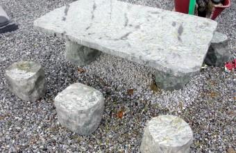 야외 대리석 테이블